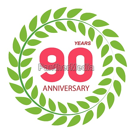 template logo 90 anniversary in laurel