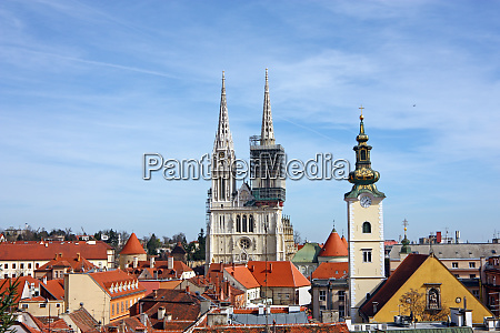 zagreb cathedral towers