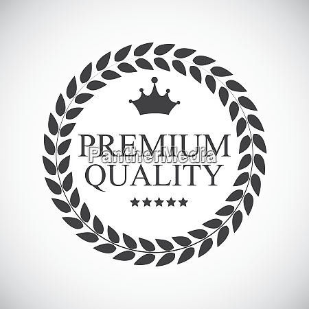premium quality label vector illustration eps10