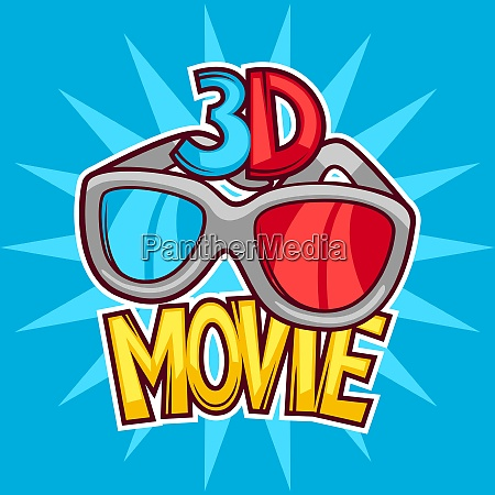 cinema and 3d movie advertising background