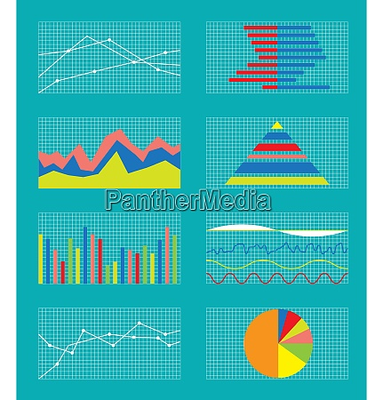 set of graphs and charts data