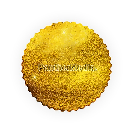 premium quality shiny golden label