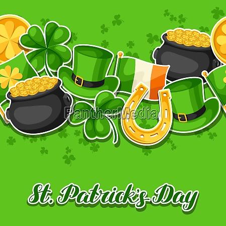 saint patricks day seamless pattern flag