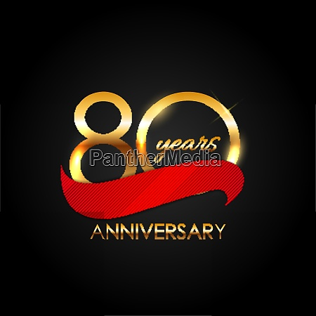 template 80 years anniversary vector illustration
