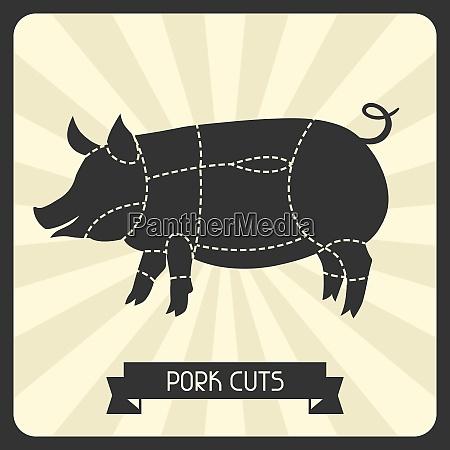 pork cuts butchers cheme cutting meat