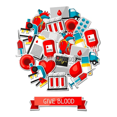 give blood background with blood donation