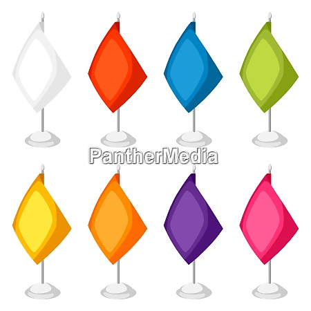 colored flags templates set of promotional
