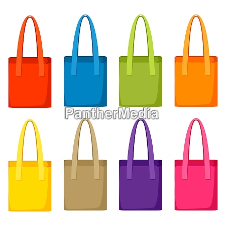 colored bags templates set of promotional