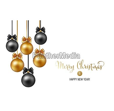 vector elegant christmas background with gold