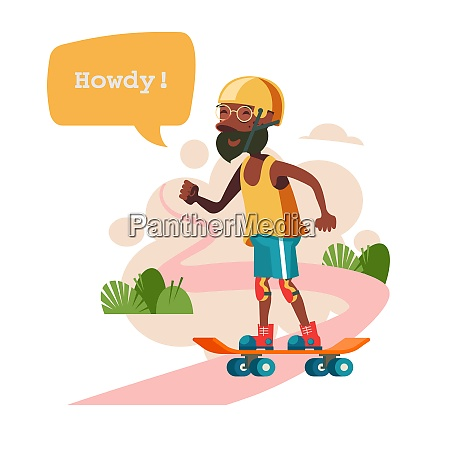 grandpa is skateboarding the pensioner leads