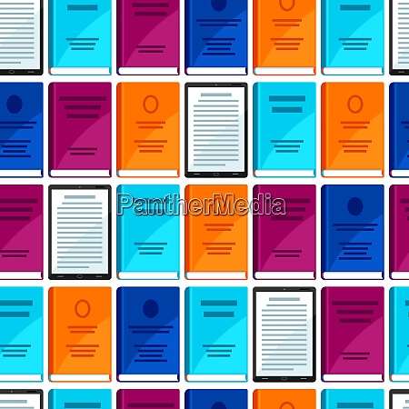 digital library seamless pattern set of