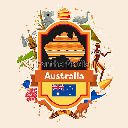 australia background design australian traditional symbols