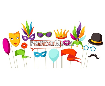 carnival photo booth props accessories for