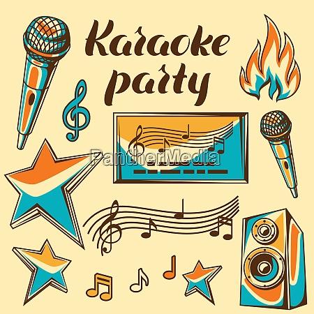 karaoke party items music event set