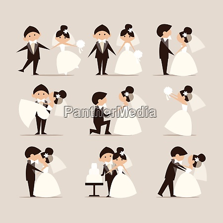 wedding theme element set wedding theme