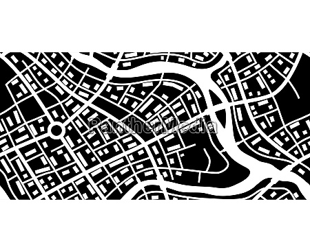 abstract city map banner abstract city