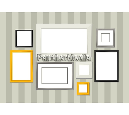 set of various frames for pictures