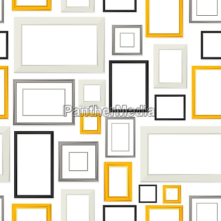 seamless pattern of various frames for