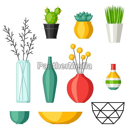 home decoration vases flower pots succulents