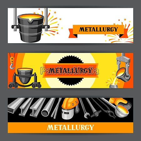 metallurgical banners design industrial items and
