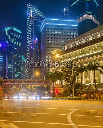 singapore metropolis skyline at night