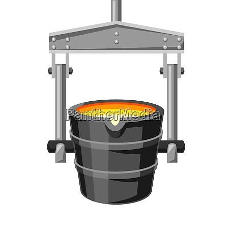 metallurgical ladle illustration metallurgical ladle illustration