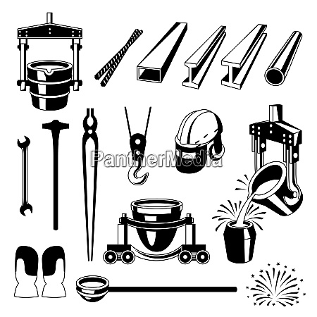 metallurgical symbols set metallurgical symbols set