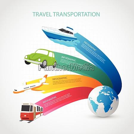 transportation, set., transportation, set, vector, art - 26788998