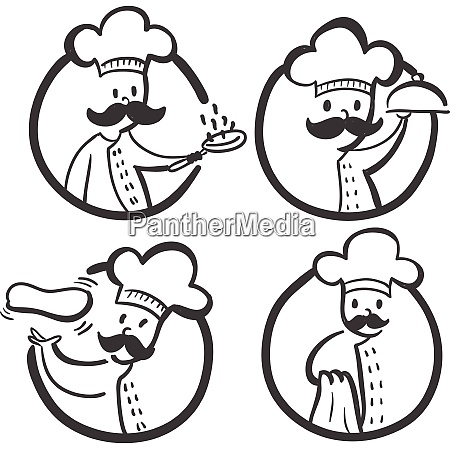 chef culinary company brand template logo