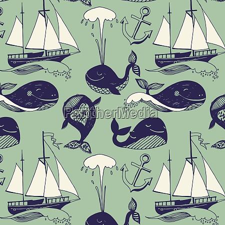 ship whale hunt pattern