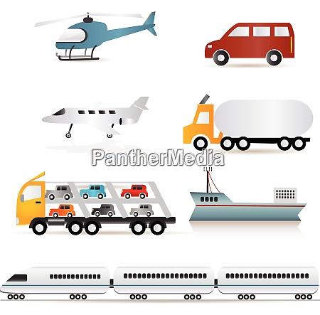 transportation set transportation set vector art