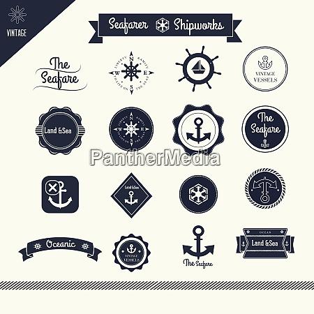 sailor nautical logo template sailor nautical