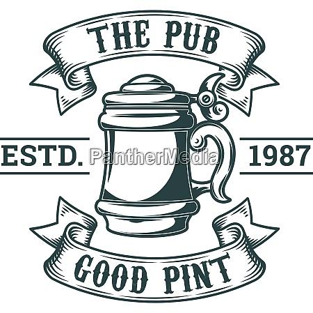 beer pub brewery badge label logo