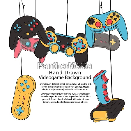 video game theme joystick controller video