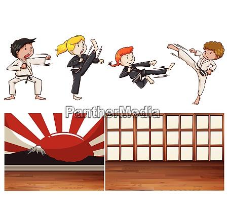 mix martial art theme mix martial