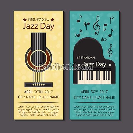 international jazz music day theme vector
