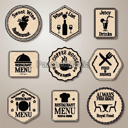 retro vintage label badge set retro