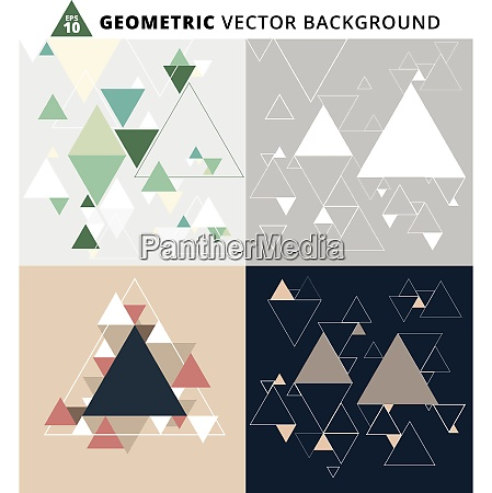 abstract geometric triangle set vector background