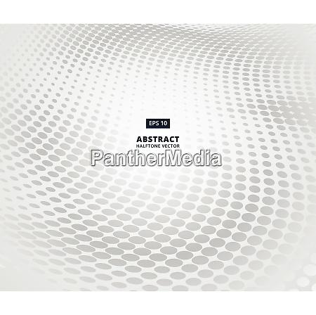 grey ellipse halftone pattern in perspective
