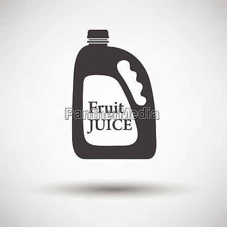 fruit juice canister icon on gray