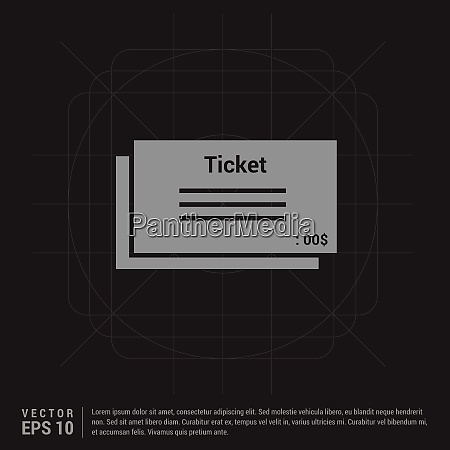 ticket icon black creative background