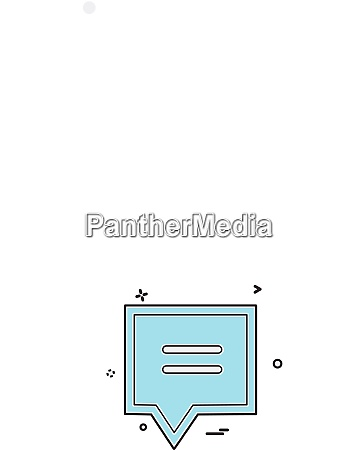 chat icon design vector