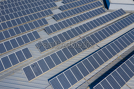 aerial view of solar panel