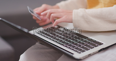 woman use of laptop computer for
