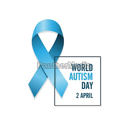 blue autism ribbon and date international