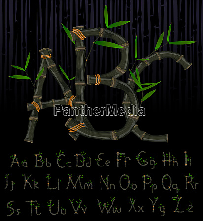 black bamboo eco alphabet
