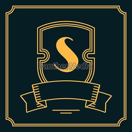 simple and graceful monogram design in