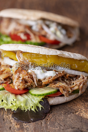 closeup of a fresh doner in