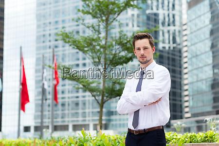 young businessman at hong kong