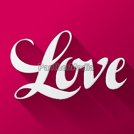 valentine day background with word love